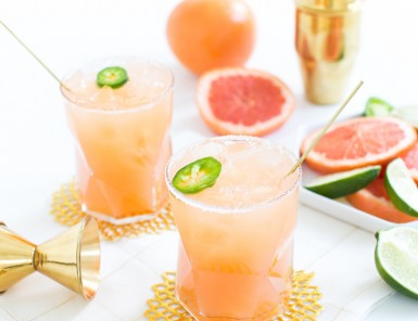 Spicy Paloma cocktail recipe