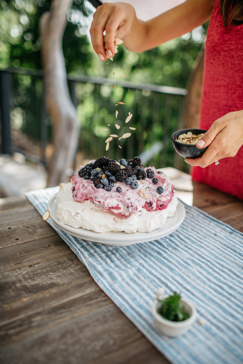 Almond & Berry Pavlova recipe