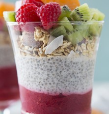 Raspberry & Chia Seed Superfood Parfait