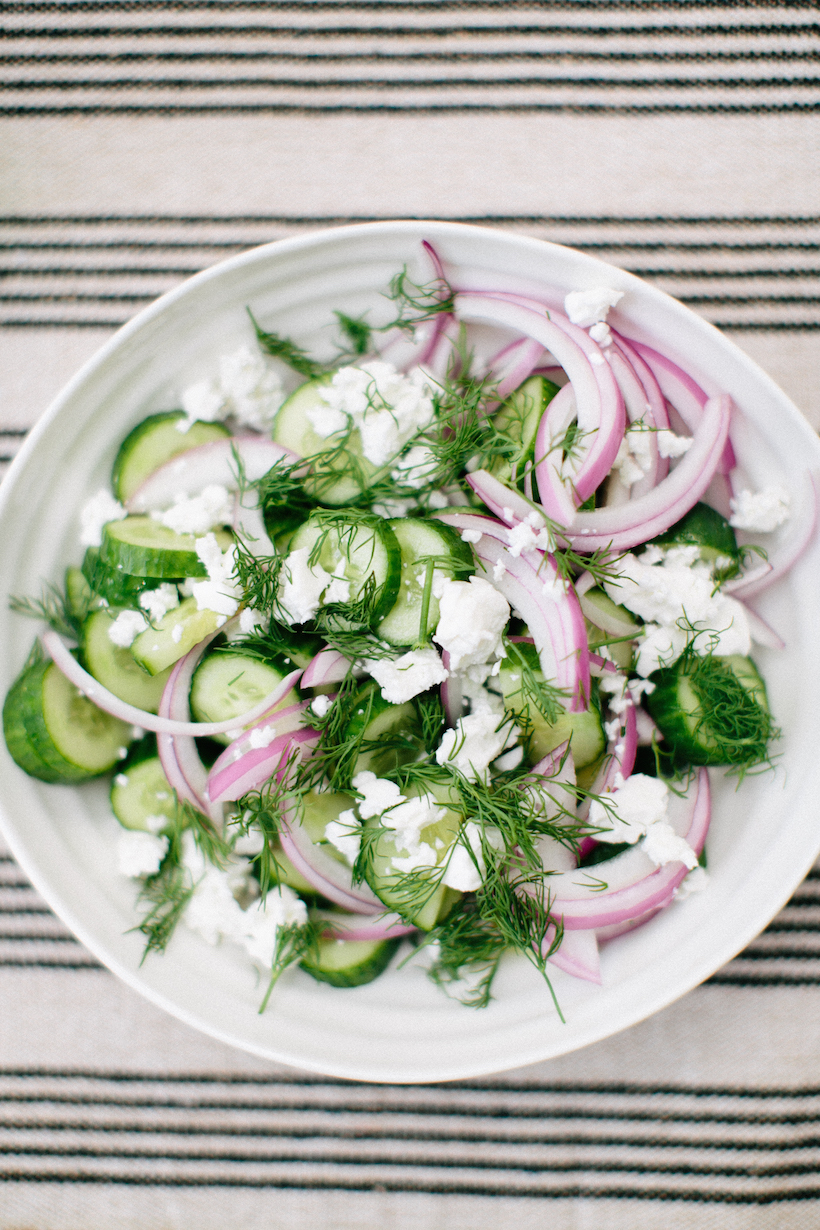 The all-star dish of the day: this refreshing cucumber and feta salad ...