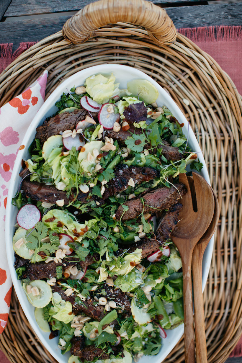 Steak Salad with Radishes, Cucumbers & Spicy Ginger Dressing ...