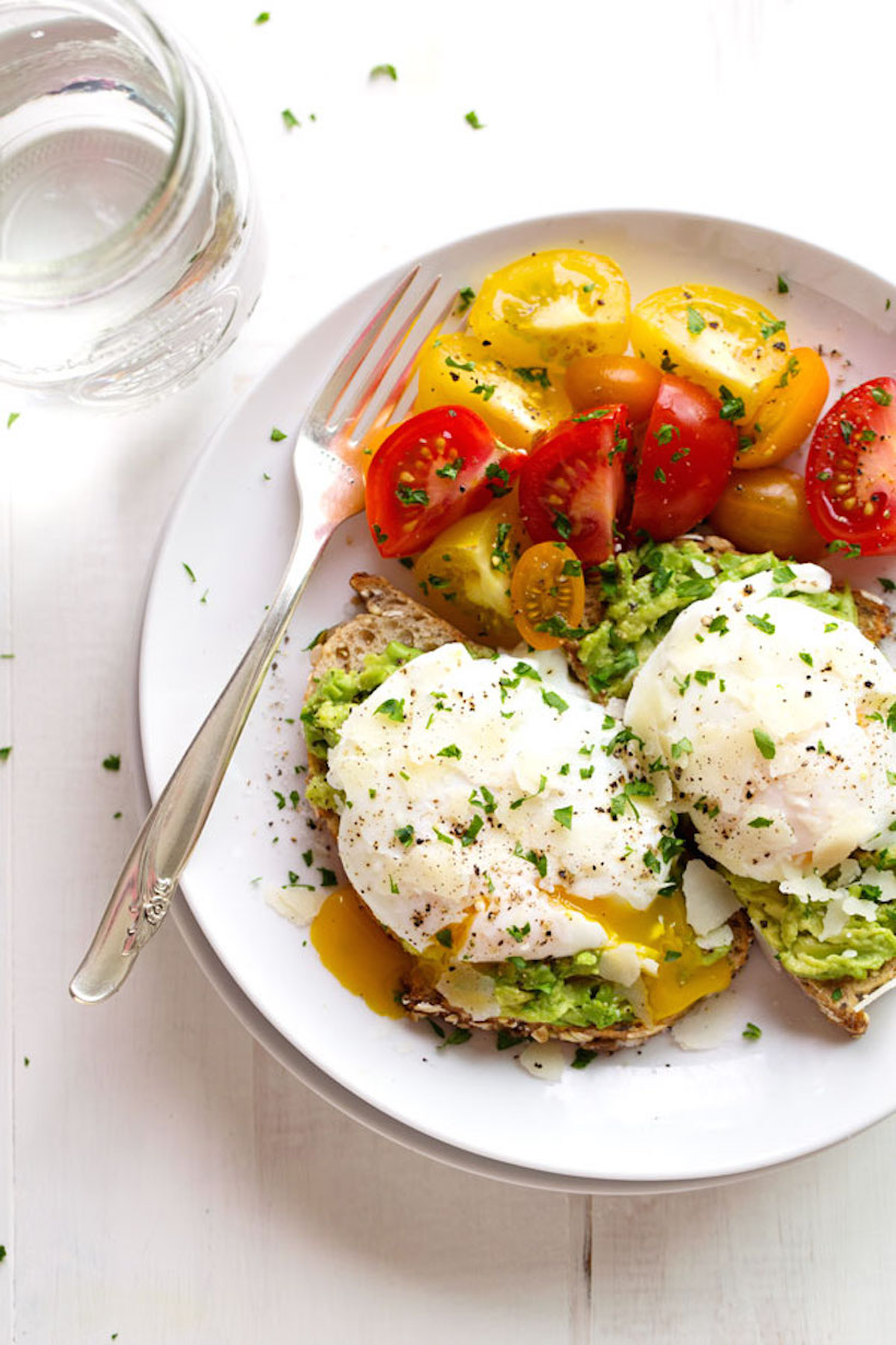 Avocado Toast with Simple Poached Egg , a pinch of yum.