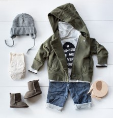 Baby Boy Fall Fashion -- hoodie and jeans