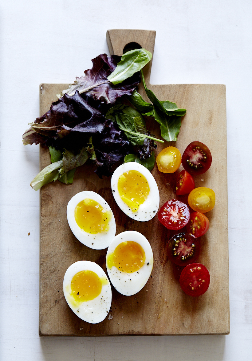 Chickpea Socca with Cherry Tomato, Soft-Boiled Egg, & Mesclun Greens ...