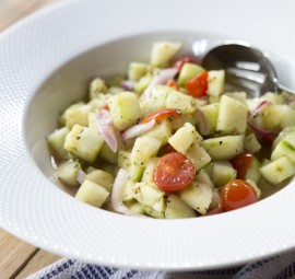 Fresh Cucumber & Tomato Salad
