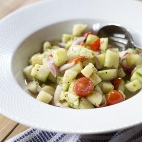 Fresh Cucumber & Tomato Salad