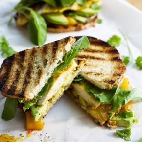 Curried Chicken & Avocado Sandwich with Mango Chutney
