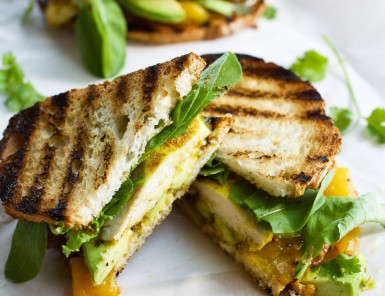 Curried Chicken & Avocado Sandwich with Mango Chutney
