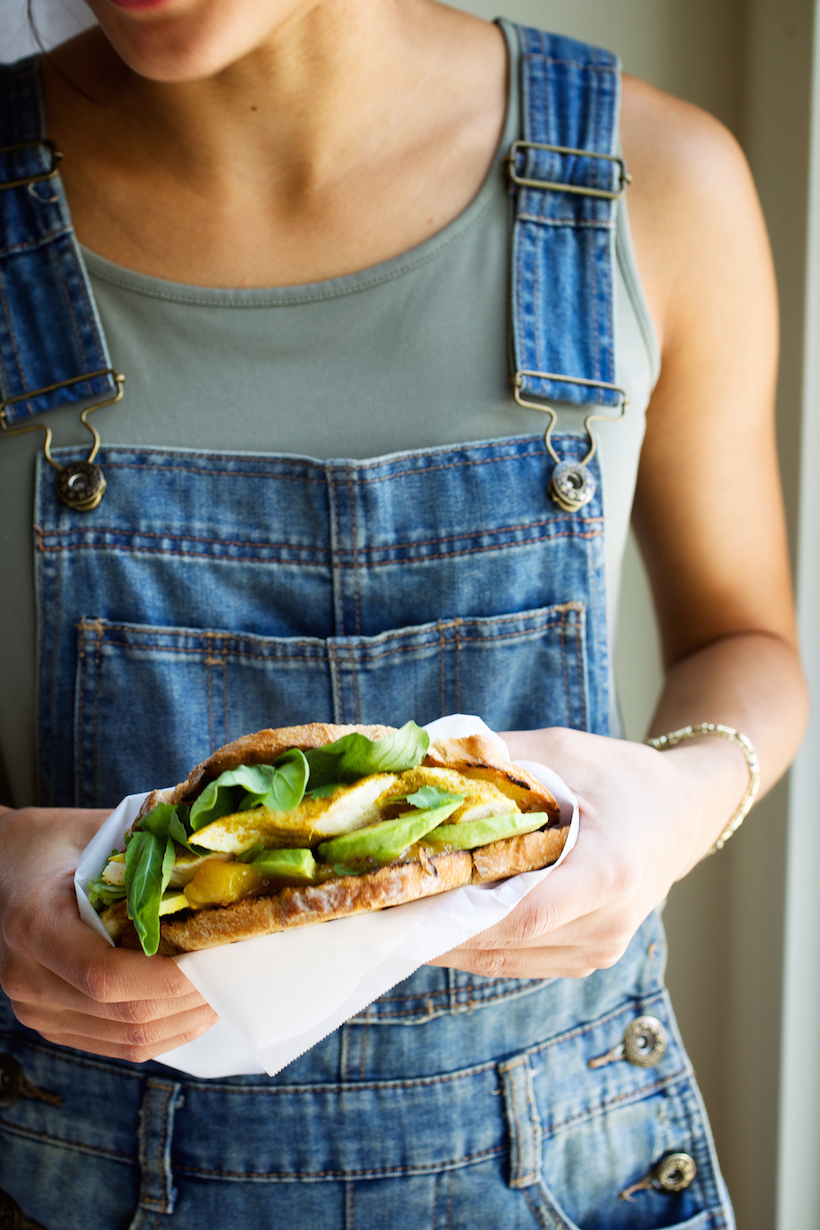 Curried Chicken & Avocado Sandwich - Camille Styles