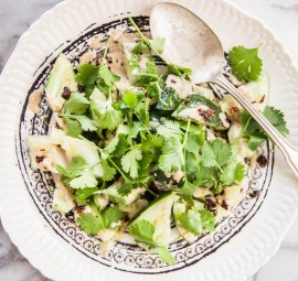 bashed cucumber salad w/ sesame vinaigrette & sichuan oil