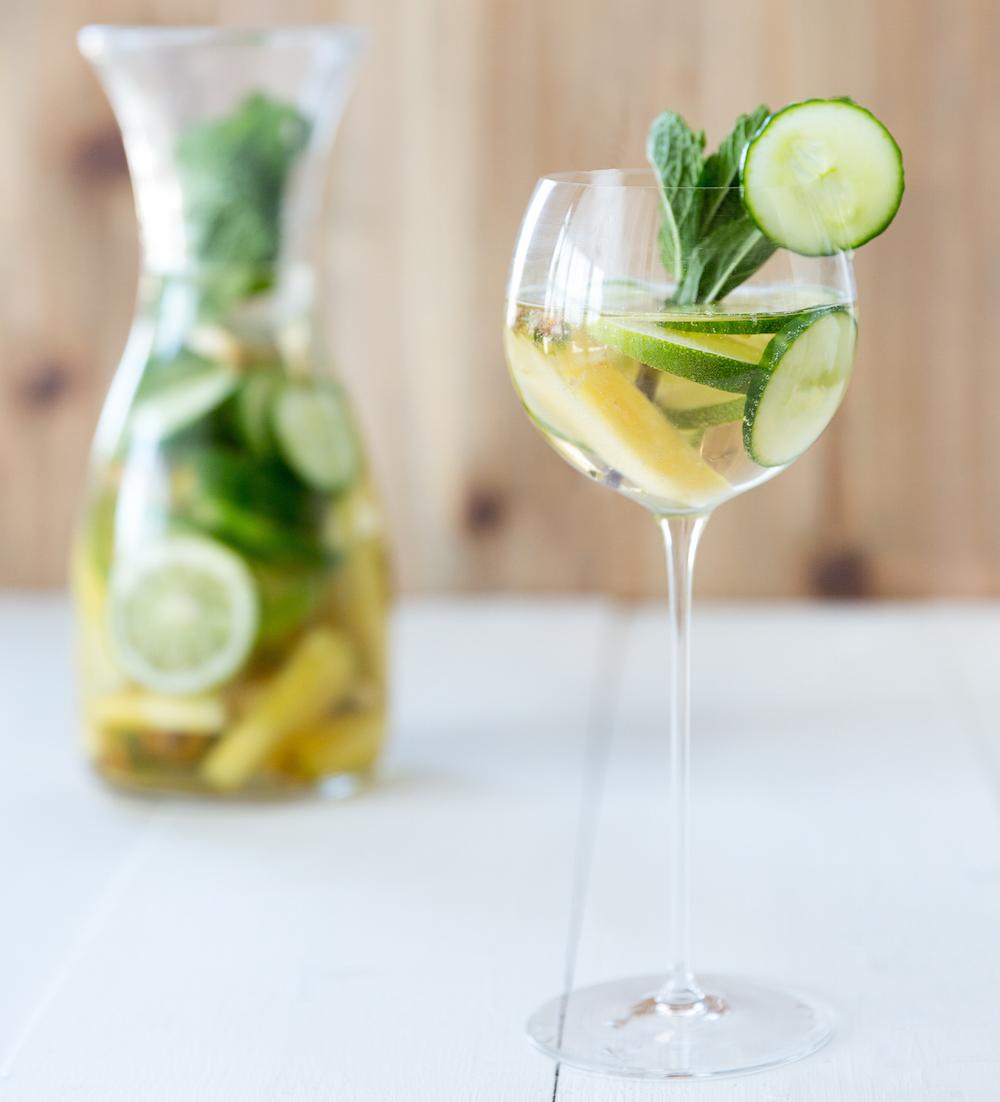 Cucumber-Ginger Sangria