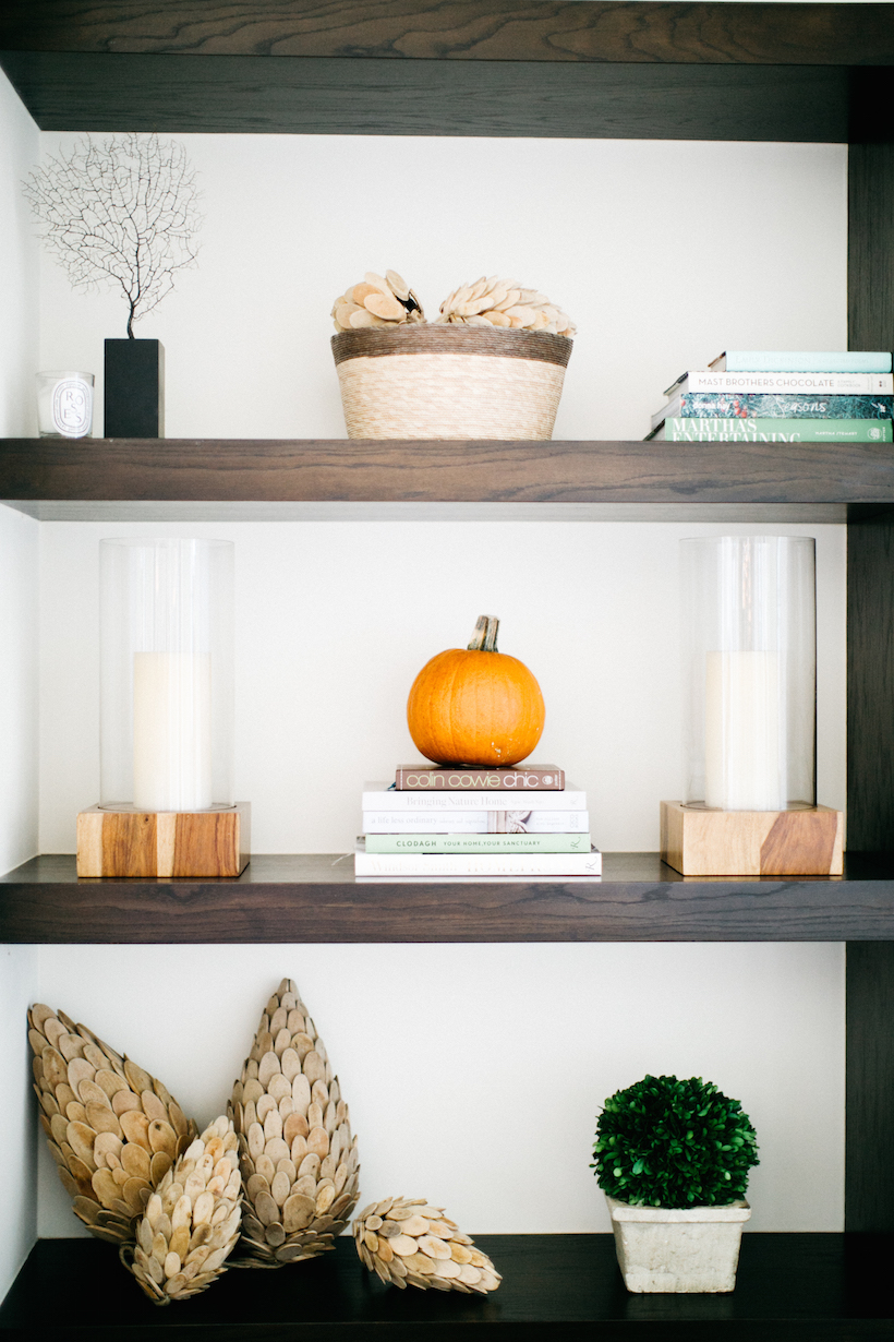 styling fall shelves