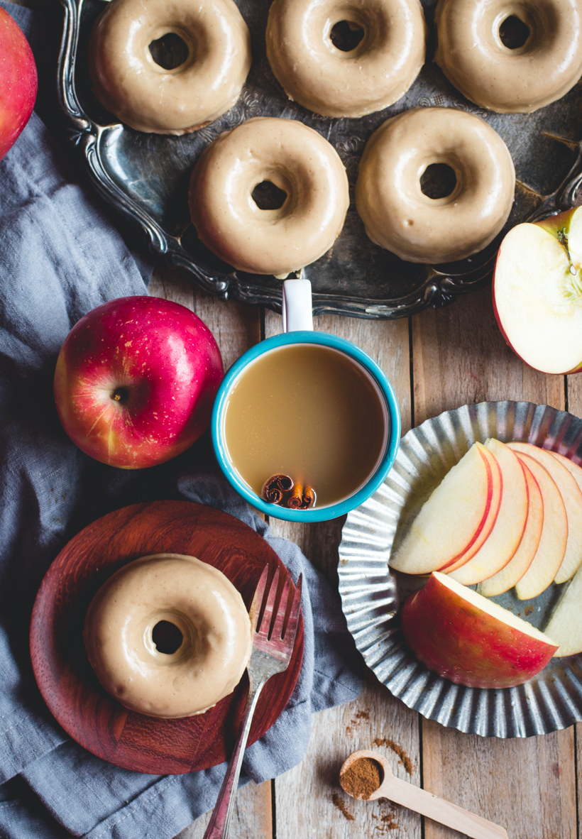 Baked Apple Cider Donuts with Brown Butter Glaze - Camille Styles