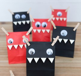 DIY Halloween Monster Favor Bags