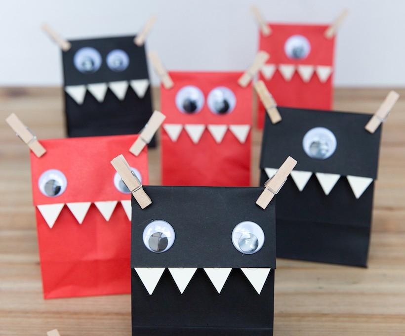 DIY Halloween Monster Favor Bags