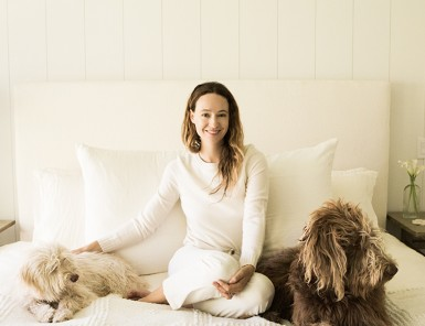 Jenni Kayne and her dogs
