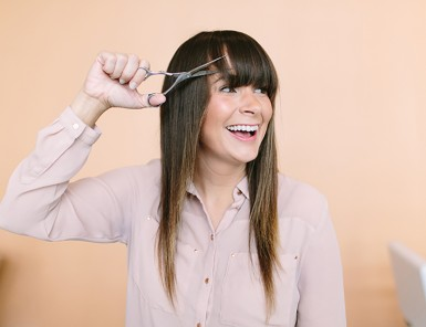 How To Trim Your Own Bangs | Camille Styles