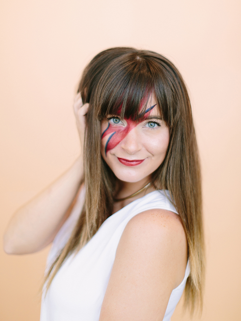 DIY David Bowie Face Paint , Camille Styles