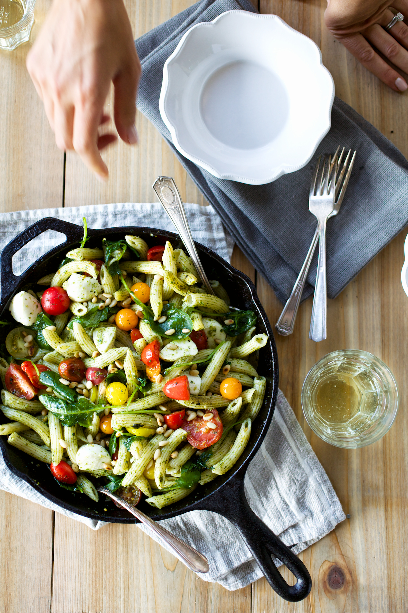 Caprese Pesto Pasta recipe