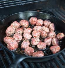bite size lamb meatballs