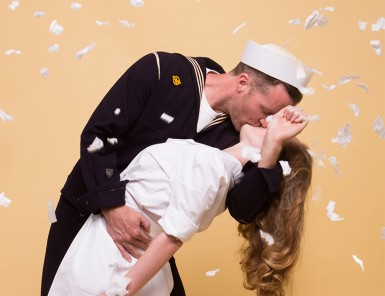 Couples Costume Idea: The Kissing Sailor | Camille Styles