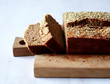 Maple Banana Bread w/ Hempseeds