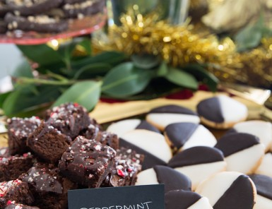 peppermint brownie plot-twist recipe -- perfect decadent dessert for a glamorous holiday party!