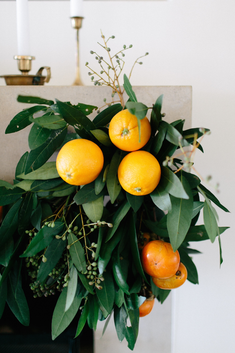 how to make a bay laurel and persimmon garland for fall