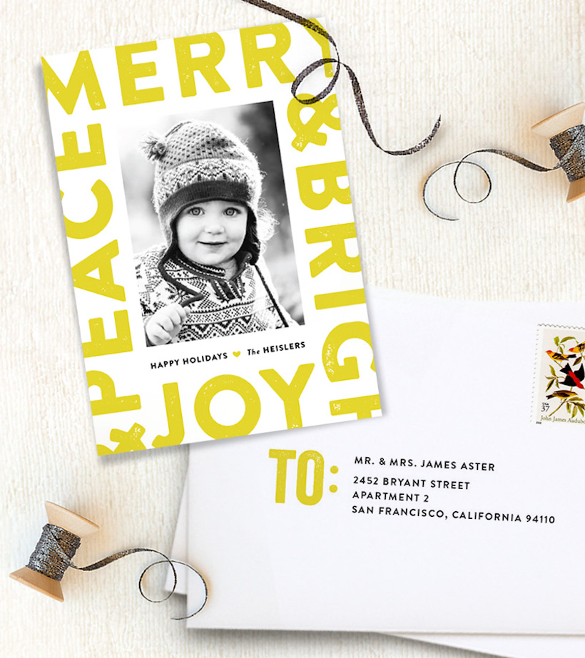 Minted Holiday Cards!