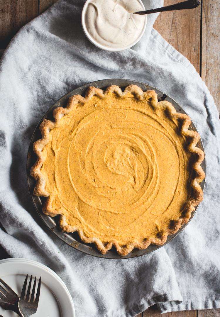 No-Bake Pumpkin Mascarpone Pie - Camille Styles