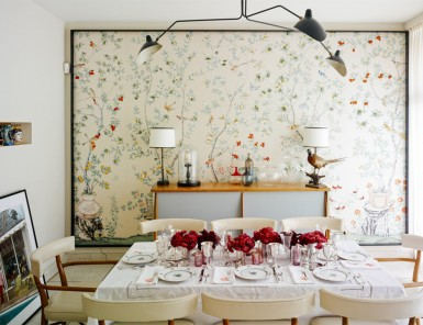 modern holiday table
