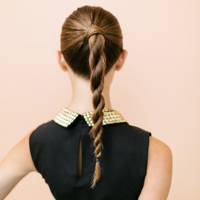 Cute hairstyle for New Year's Eve
