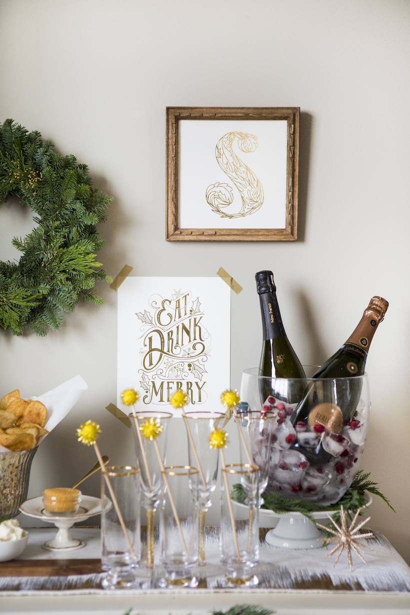 How To Setup A Holiday Bubbly Bar