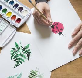 Watercoloring for fun