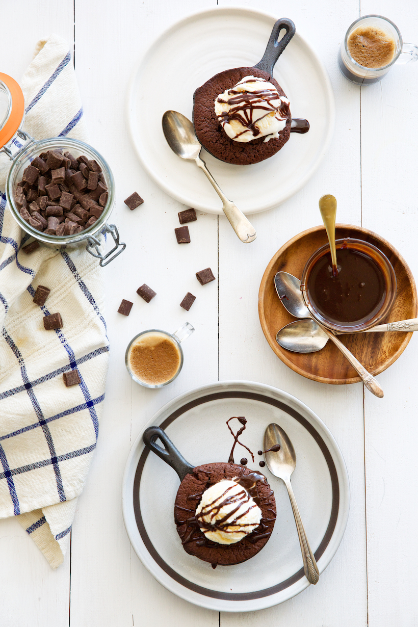 Espresso Chocolate Chunk Skillet Brownies