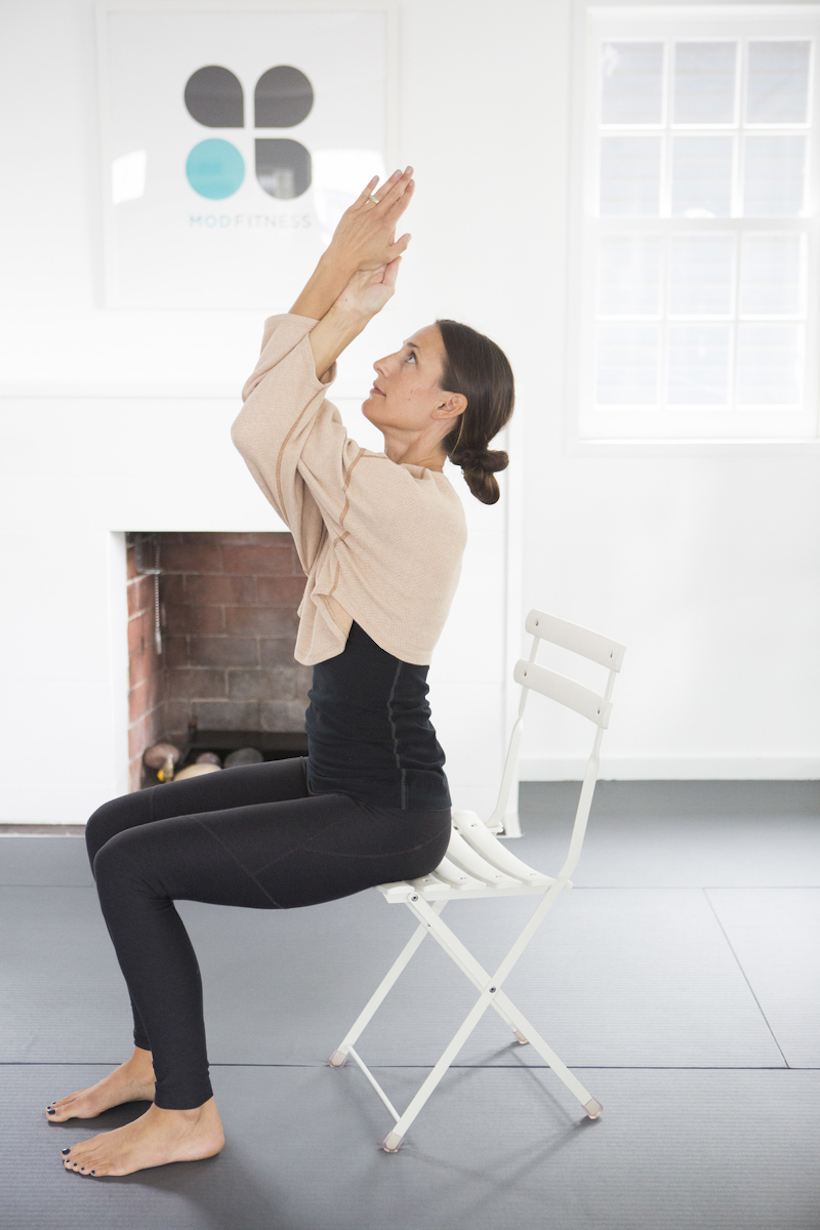 Seated Pose with Eagle Arms