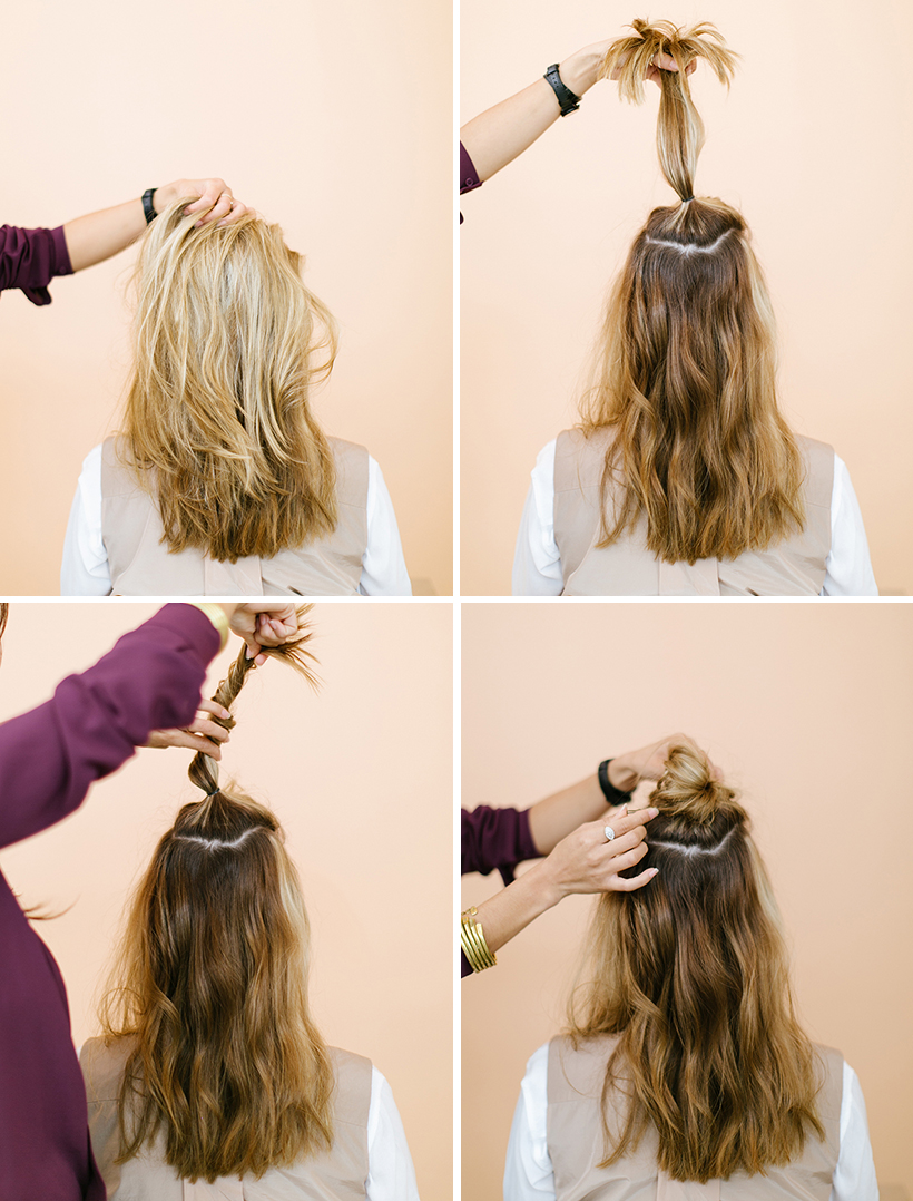 The Half Up Top Knot Camille Styles