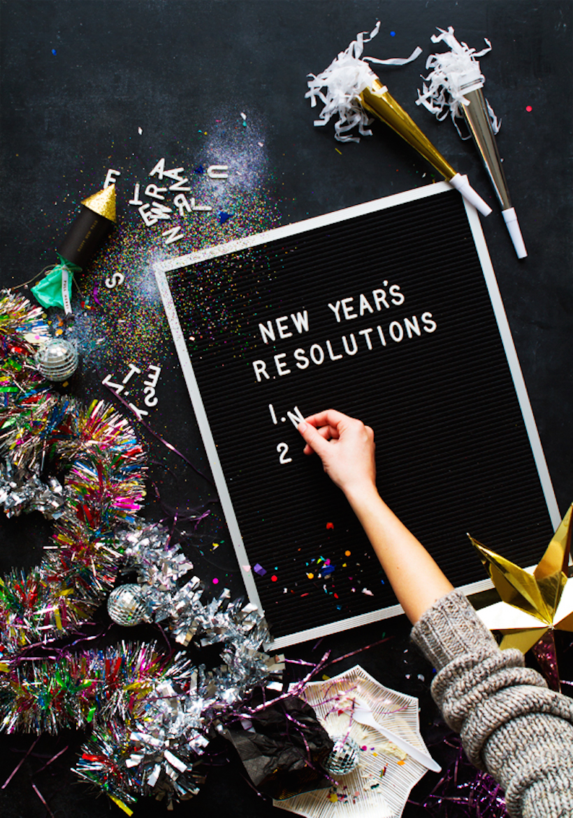 list out your new year's resolutions