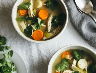 poached chicken and winter vegetable soup -- such an easy, cozy dinner