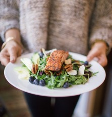 Amazing salmon and blueberry salad recipe!