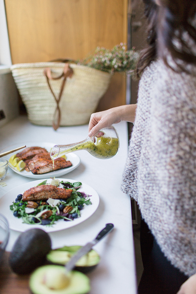 Amazing salmon and blueberry salad recipe