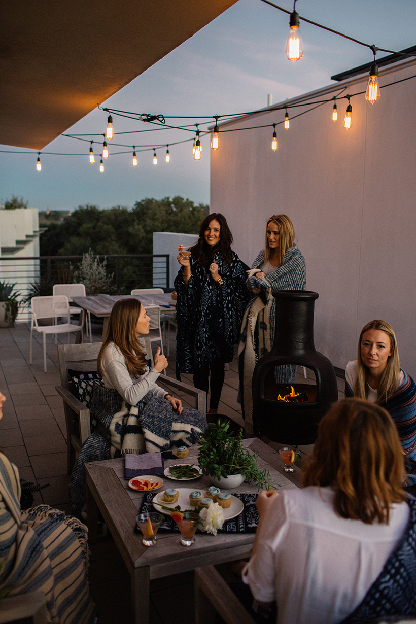 girls night on the roof
