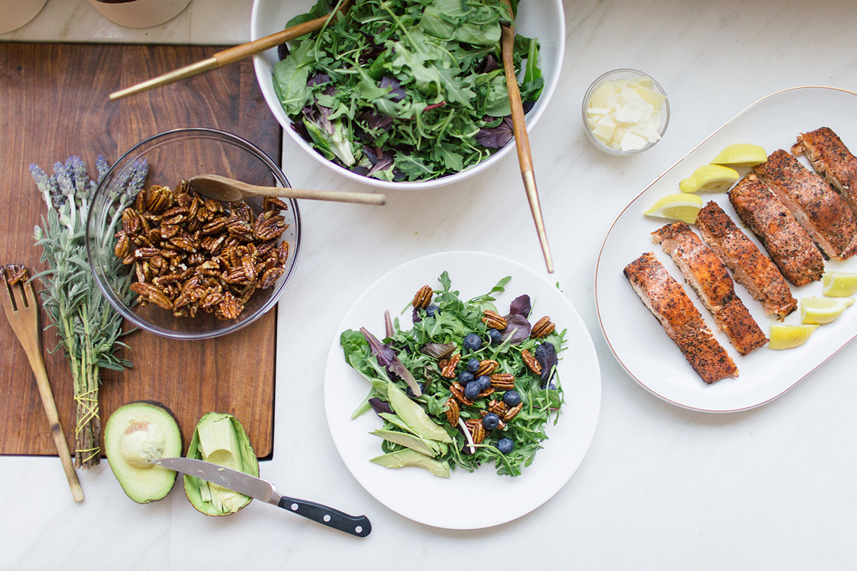 amazing salmon and blueberry salad recipe!