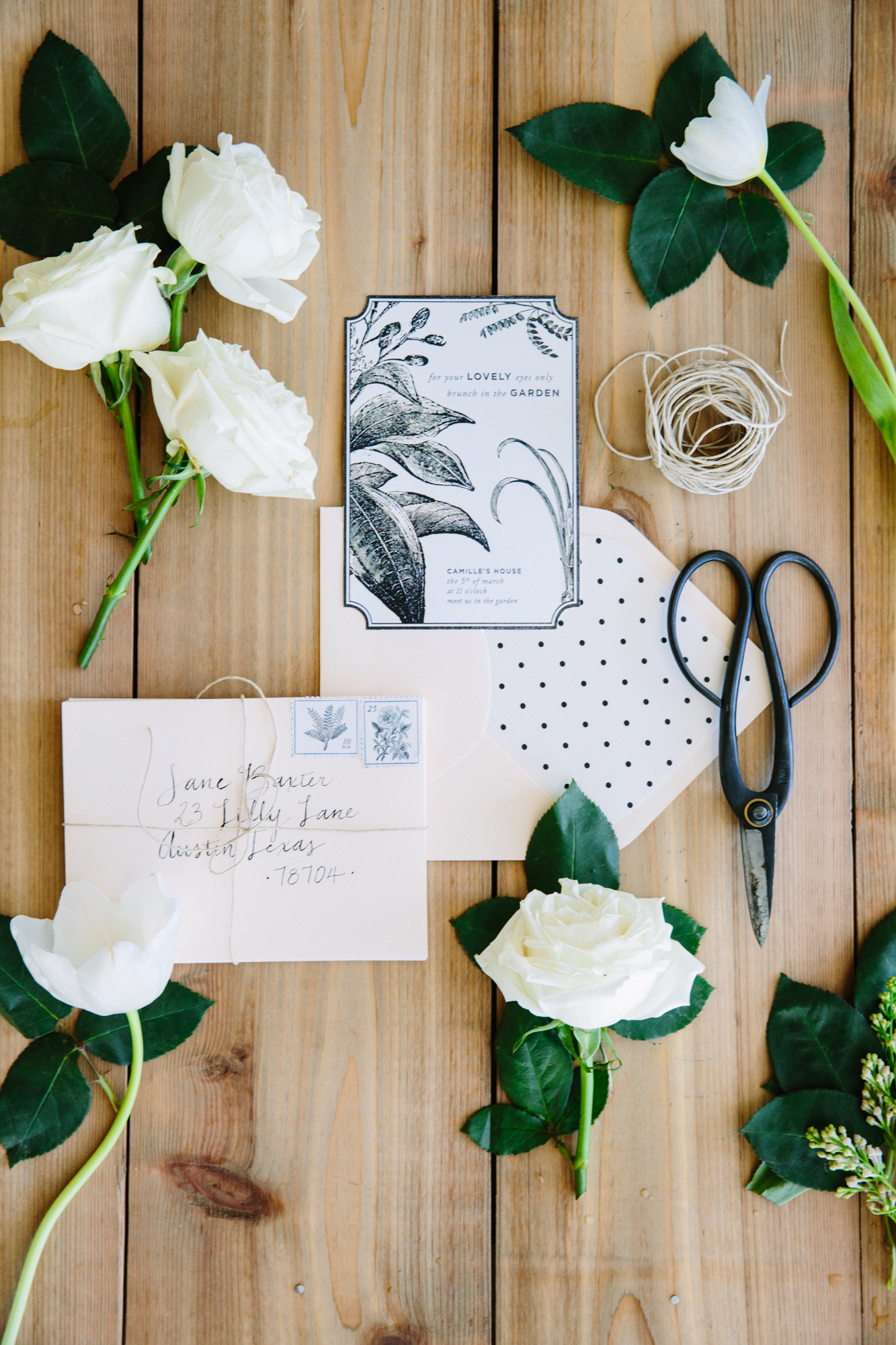 botanical-inspired garden party invitations