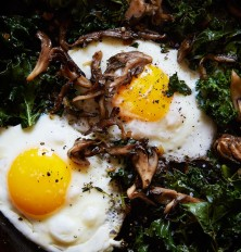 Kale, eggs and wild mushrooms = NOM city