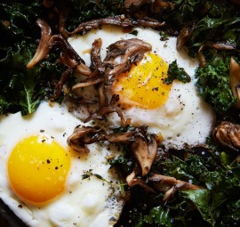 Kale, eggs and wild mushrooms = NOM city