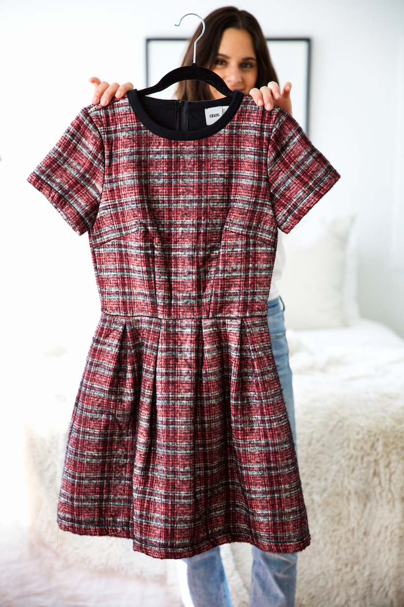 the perfect plaid dress