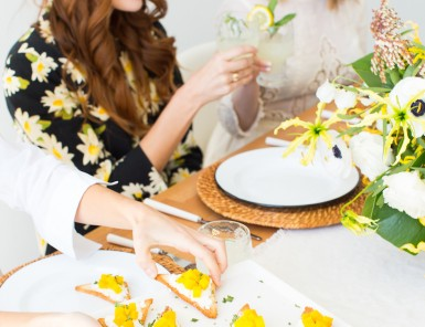 the happiest spring brunch ever