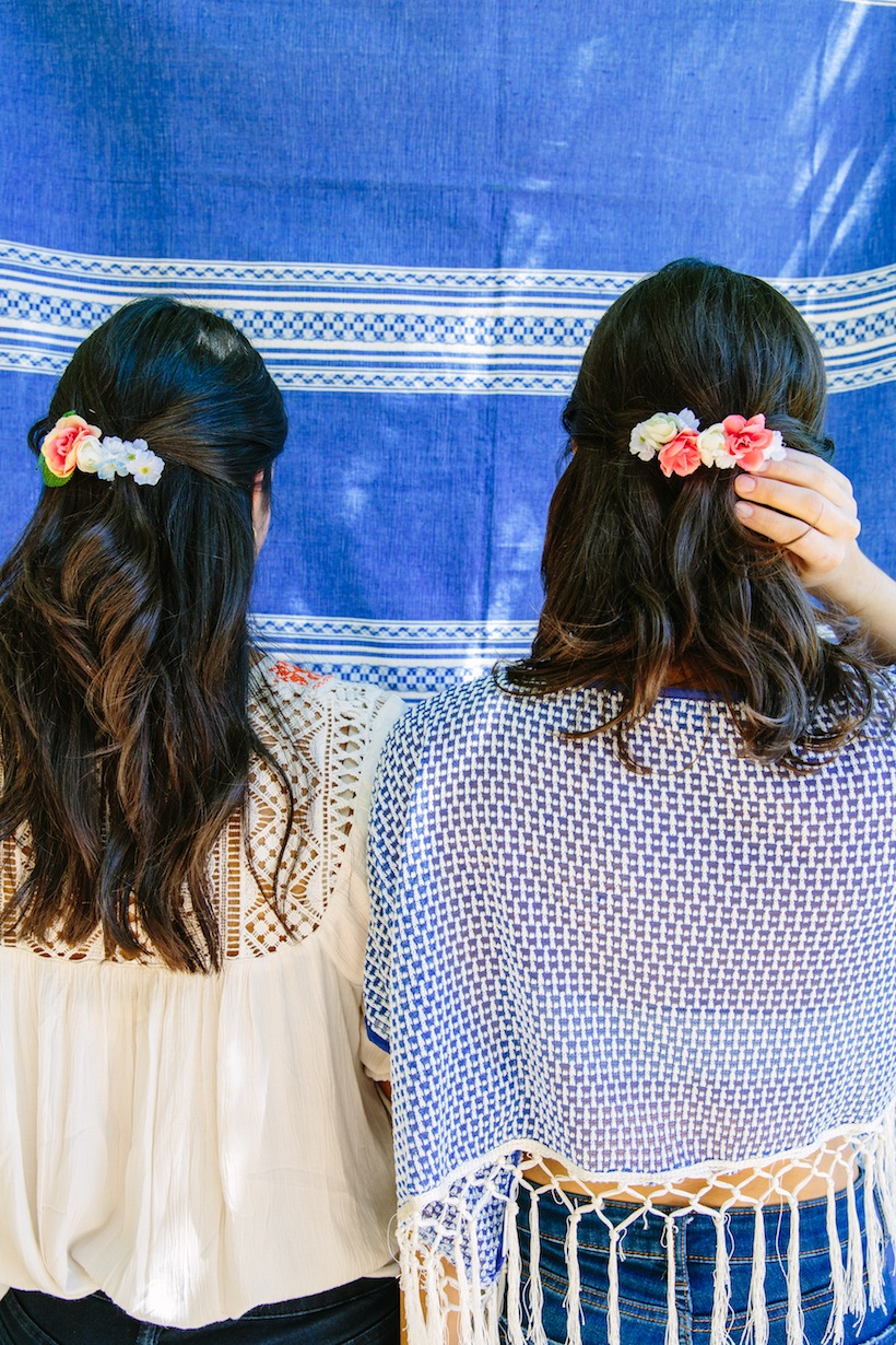 Chanel DIY'd these adorable hair clips for guests
