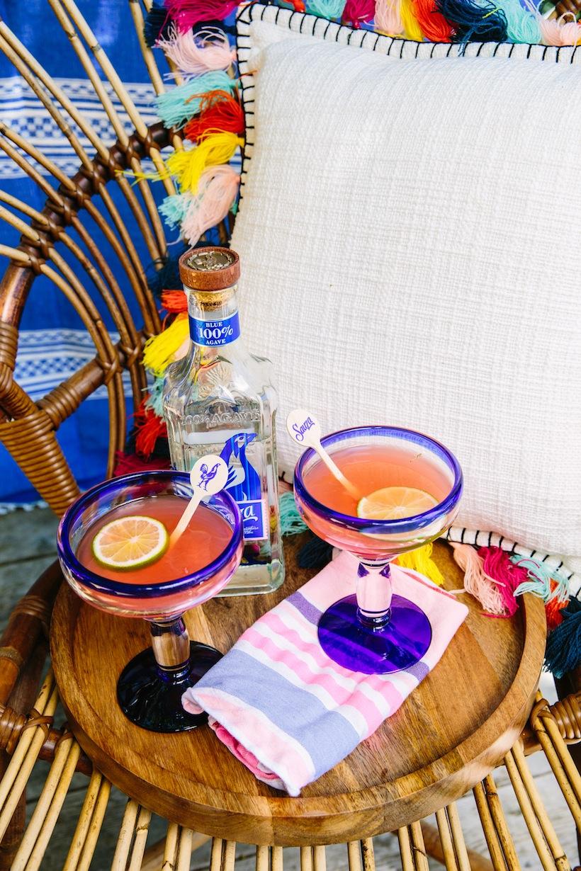 We offered guests blood orange margaritas to sip